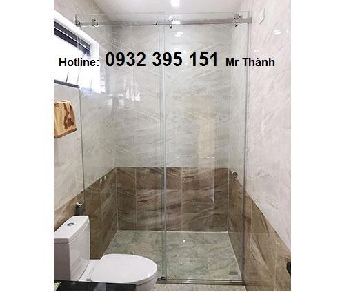 Phòng tắm kính cường lực giá rẻ tại hcm3