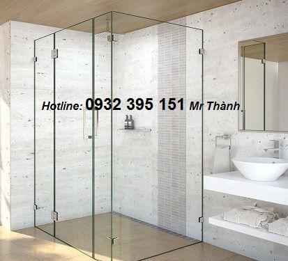 báo giá vách tắm kính cửa mở quay 90 độ chất lượng nhất thị trường